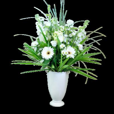 Elegantná kytica z bielych kvietkov