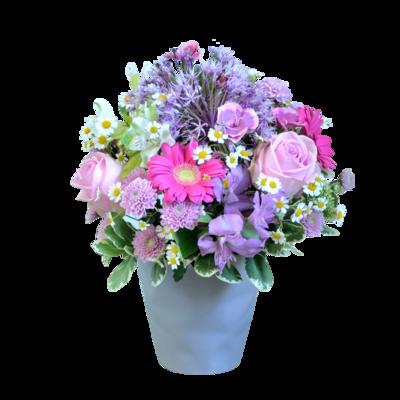 Letná fialovo-ružová kytica z voňavých kvetov