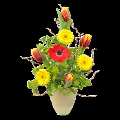 Jarná červeno-žltá kytica