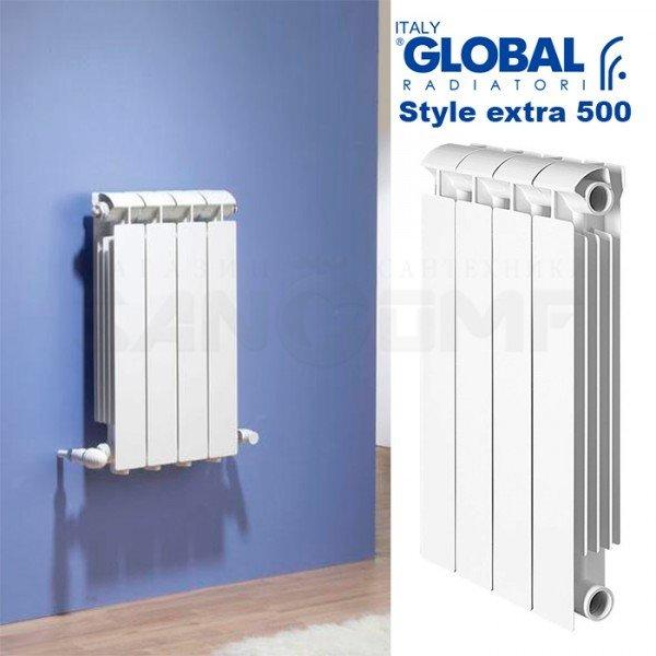 Биметаллический радиатор Global stile plus 500 4 секции