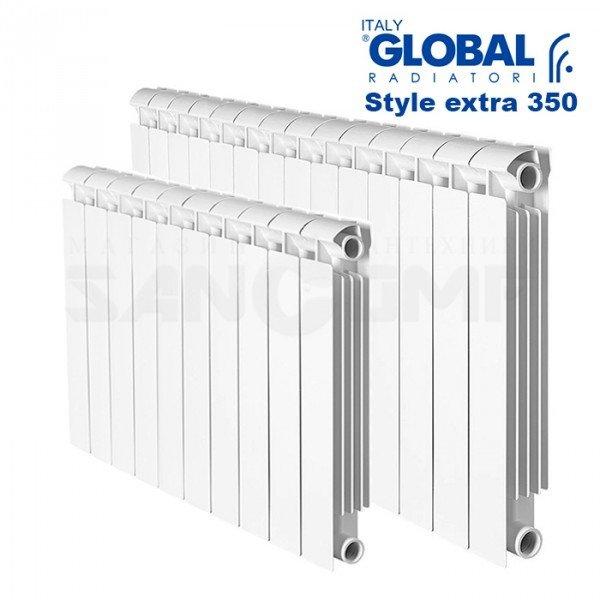 Биметаллический радиатор Global stile extra 350 4 секции