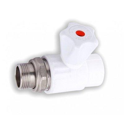 Кран шаровый Valfex pp-r для радиатора прямой dn 20х1/2