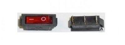Выключатель одноклавишный 13*30мм  (16А 250В с сигнальной лампой)