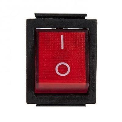 Выключатель одноклавишный 26*31мм  (16А 250В)  с индикаторной лампой