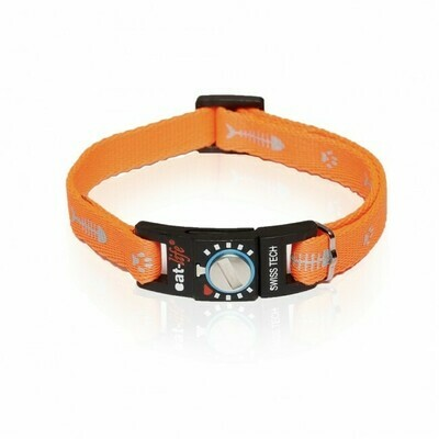 Cat-life Katzenhalsband Fish & Paw orange reflektierend