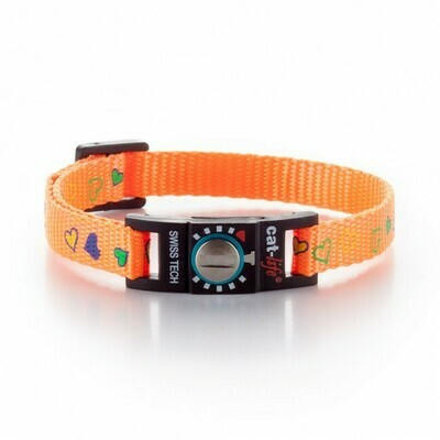 cat-life Katzenhalsband Hearts orange