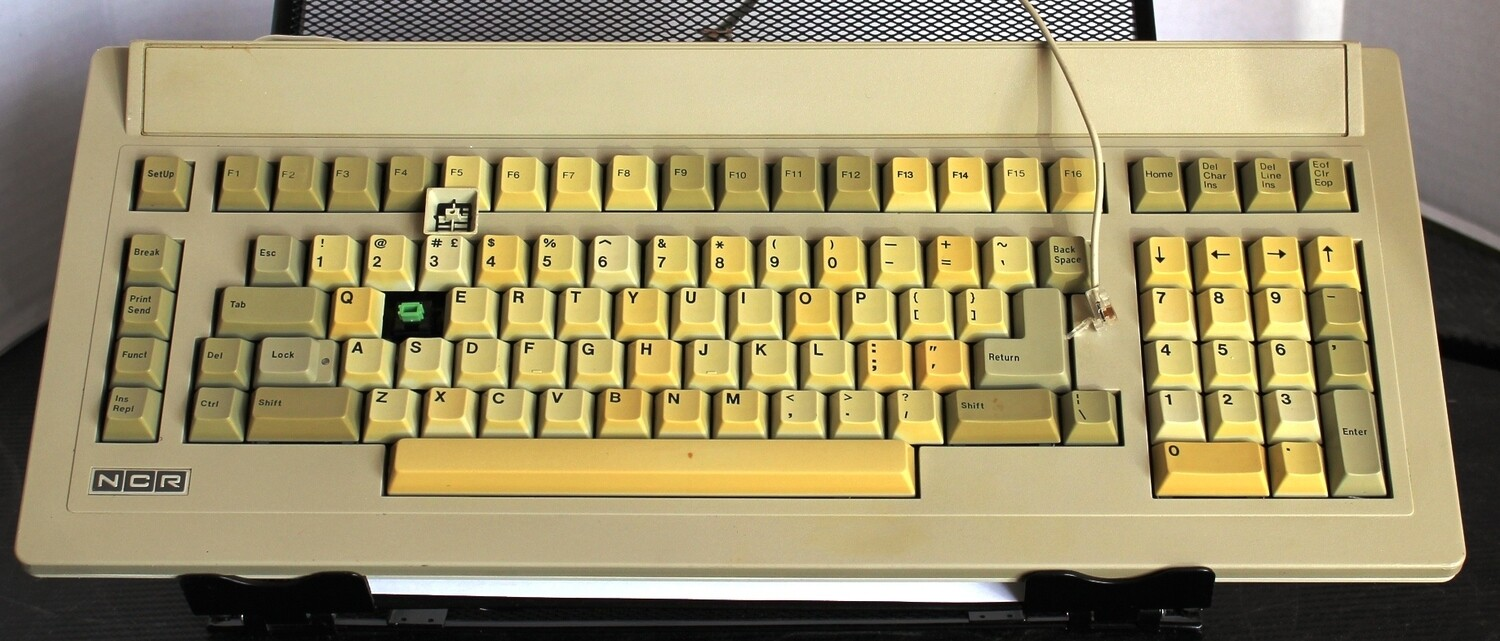 NCR 4940 Terminal Keyboard with Green Alps