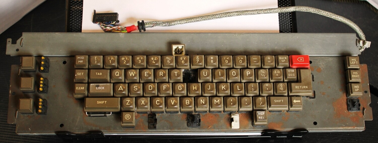 Old Triumph Adler Typewriter Keyboard