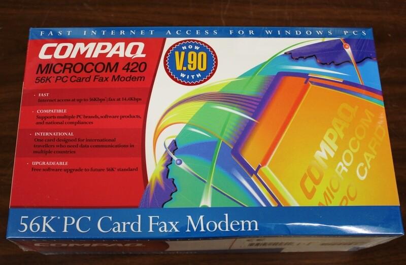 Compaq 56K PCMCIA Modem with Fax, NIB