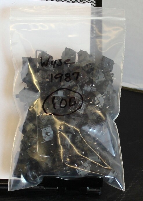 Cherry MX Black Switches from 1987, Bag of 100