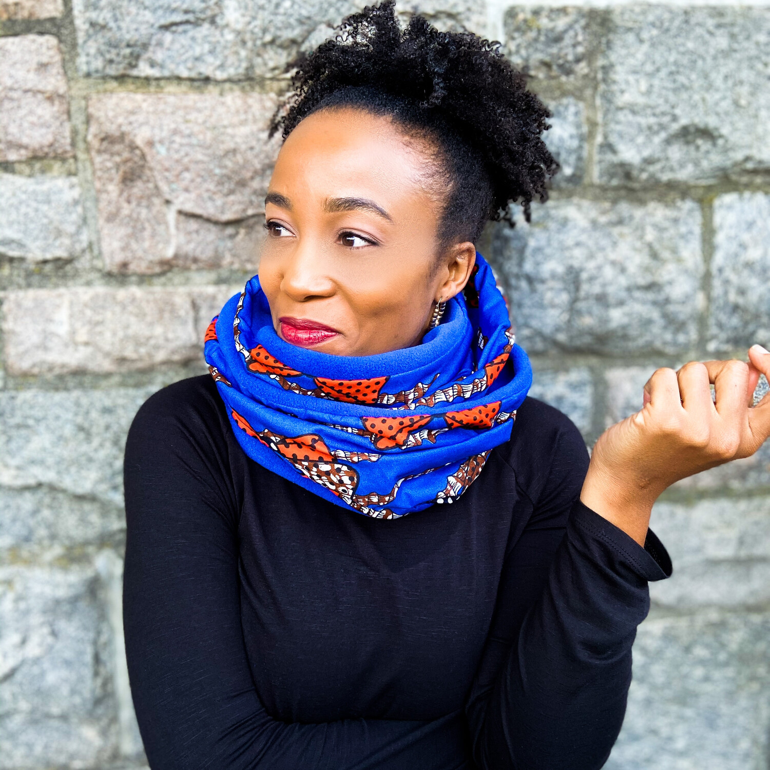 Tochi African Print Infinity Scarf