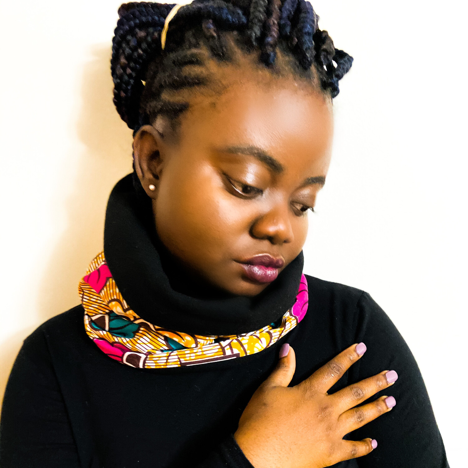 Arewa African Print Snood Scarf
