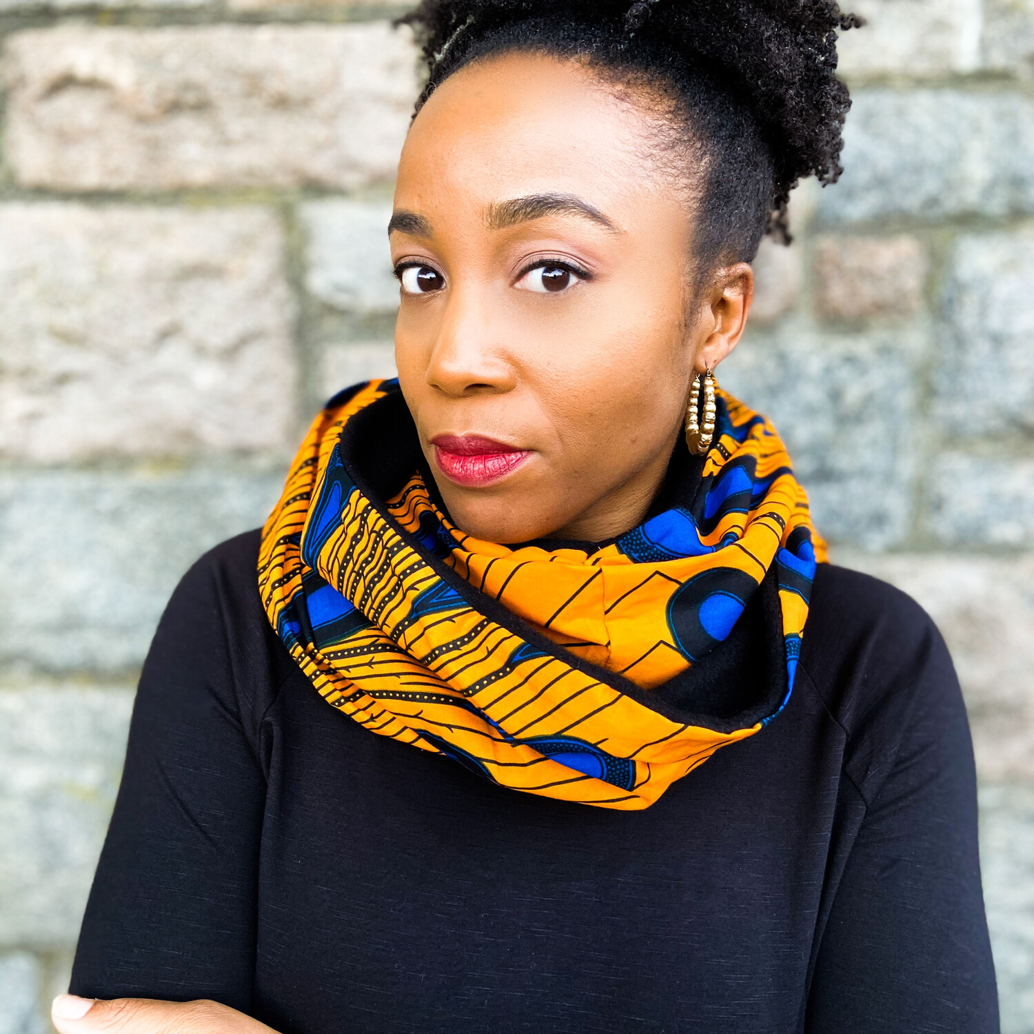 Dami African Print Infinity Scarf