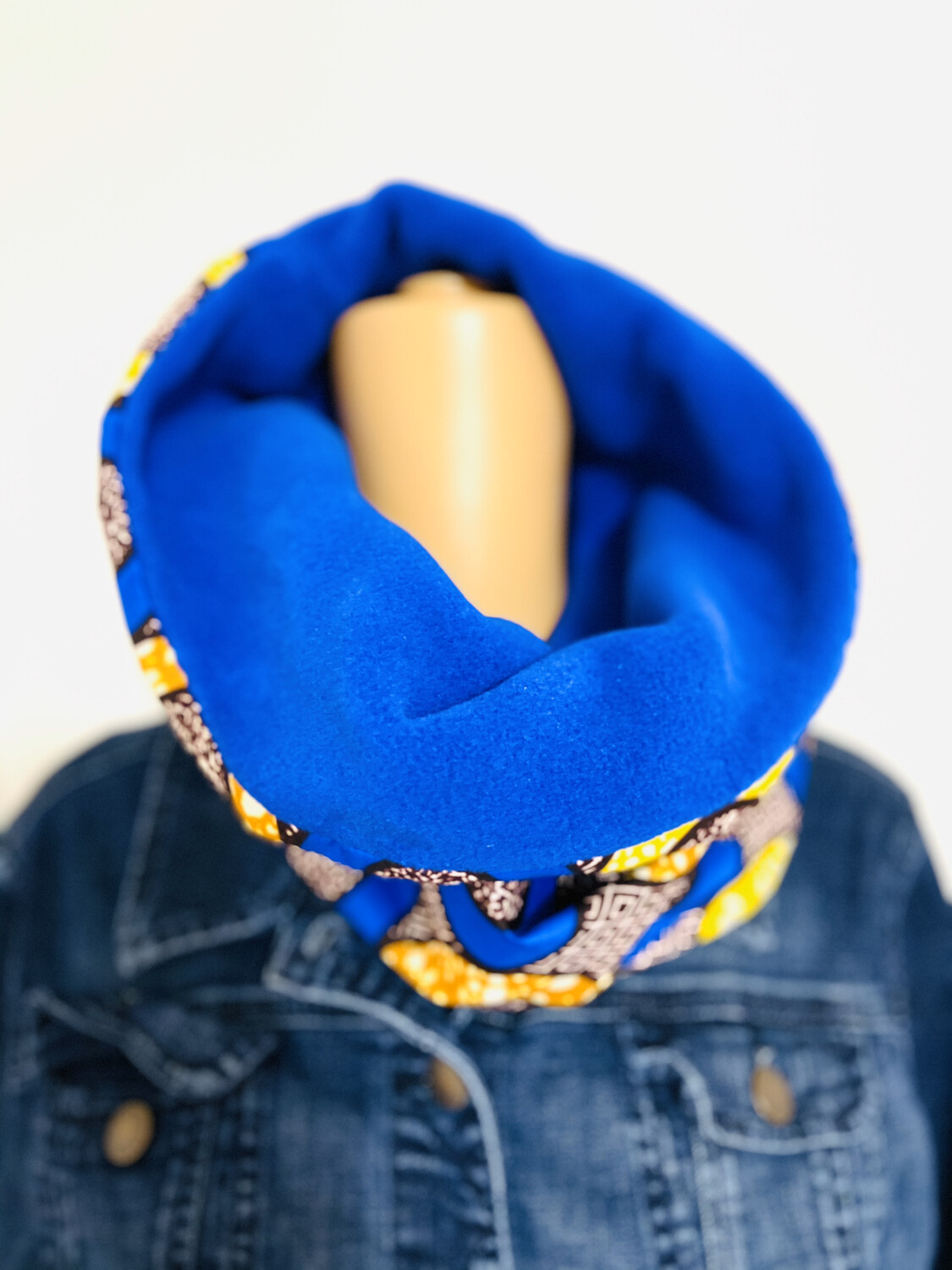 Thula Extra Large African Print Snood Scarf