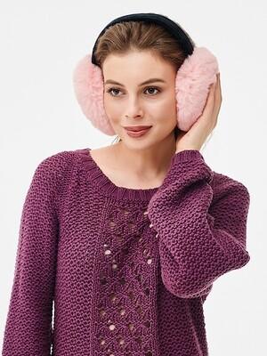 Наушники меховые - розовый