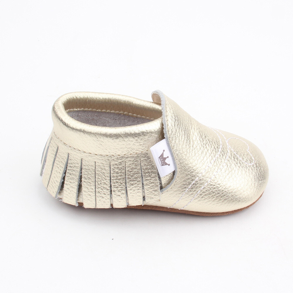 Heart Moccasins  - Gold