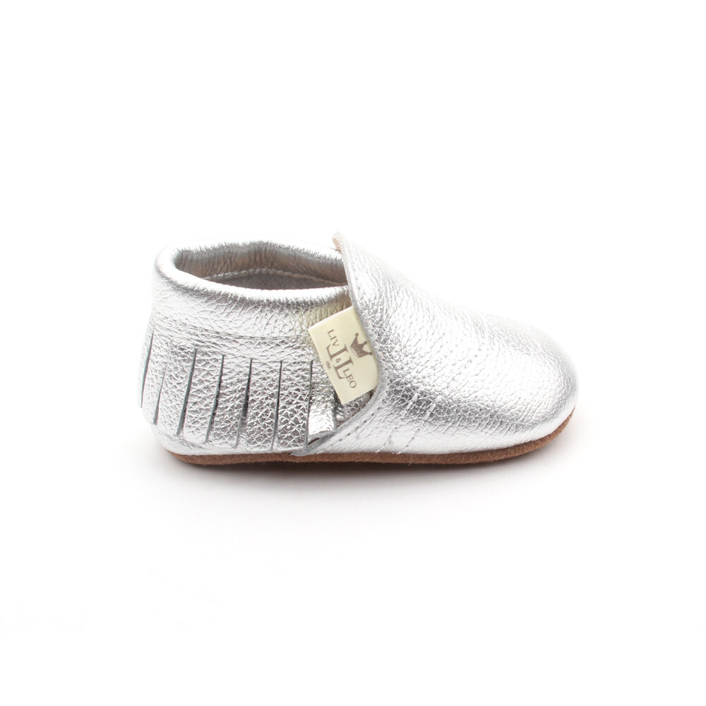 Heart Moccasins  - Silver