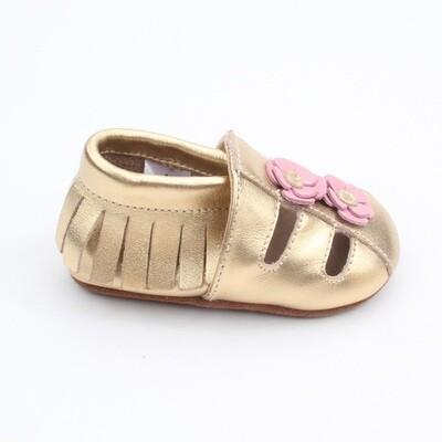 Sandal Moccasins - Gold
