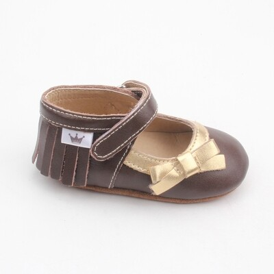 Moccasins Mary Jane Bow - Brown