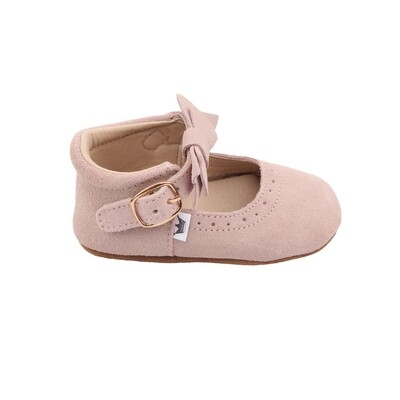 Oxford Mary Jane's - Light Pink (Suede)
