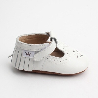 Moccasins T-Bars - White