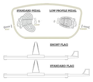 Sealect Foot braces - standard.