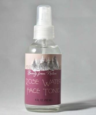 Rose Water Face Tonic (4 fl oz/ 118ml)