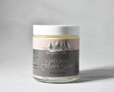 Natural Cream Soap - 4 oz jar (4 oz/113 g)