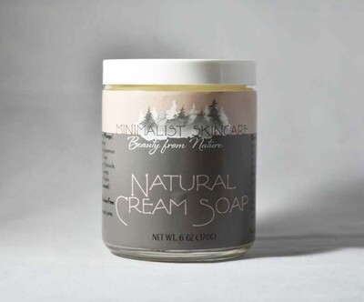 Natural Cream Soap - 8 oz jar (8 oz/226 g)