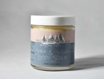 Shea & Sugar Body Scrub 4 oz jar (5.6 oz /160 g)