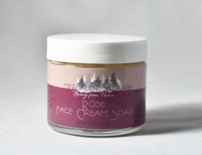 Rose Face Cream Soap 2 oz jar (1.43 oz/40g)