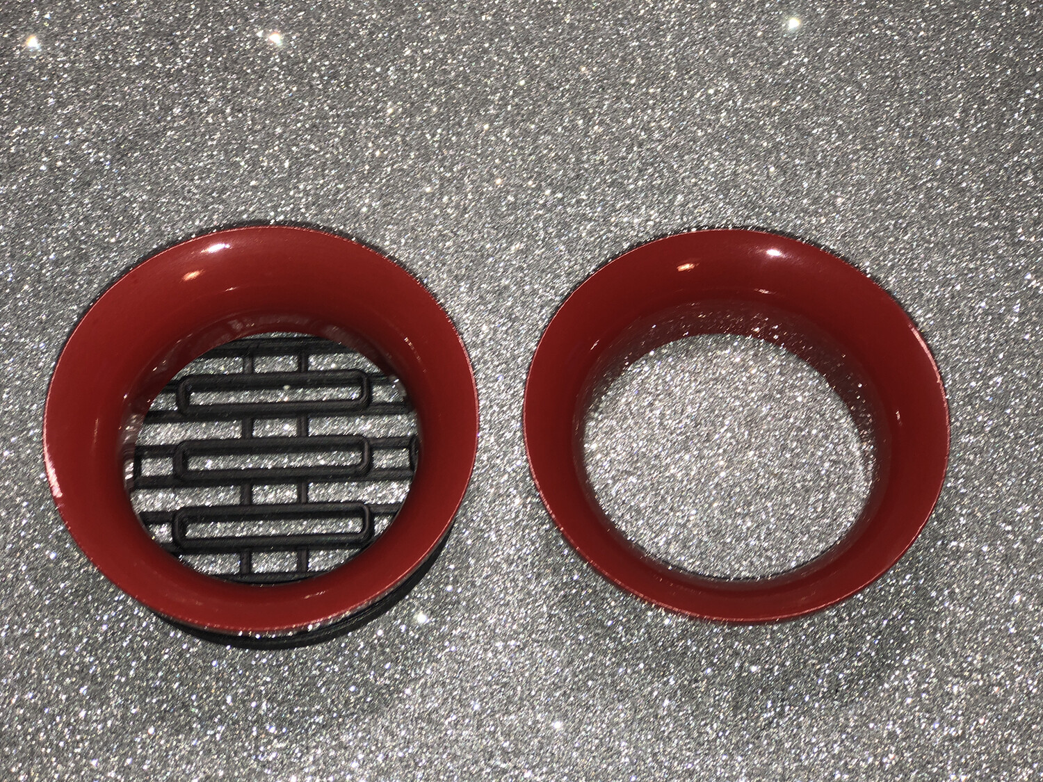 DIABLO Combo Painted Headlight Rings - 1 with Screen, 1 No Screen