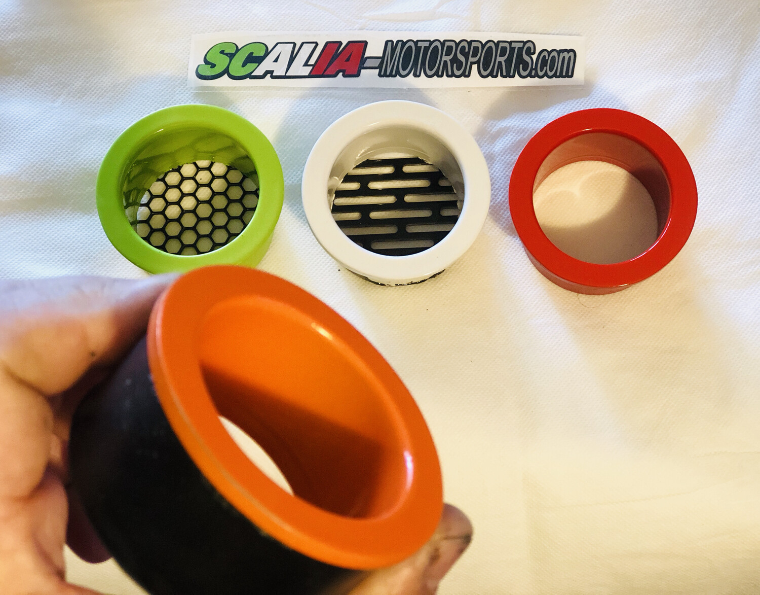 PINKY Headlight Ring Inserts  - Painted Pair