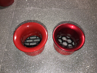 GATTO Anodized Aluminum Matte Or Clear Coat Headlight Intake Rings (Non Painted)