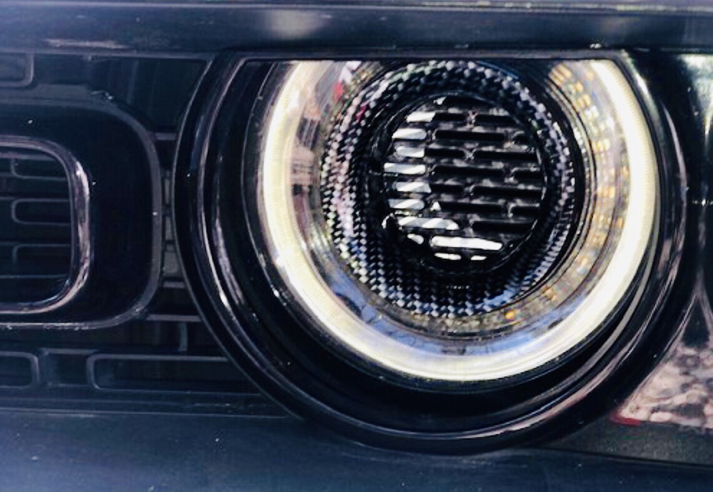 DIABLO Carbon Fiber Hydro Dipped Headlight Rings - Pair or Single