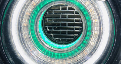 Rear Headlight Screens -Fits All Standard OEM Size Tunnels (Both Illuminated and Non Illuminated Tunnels)