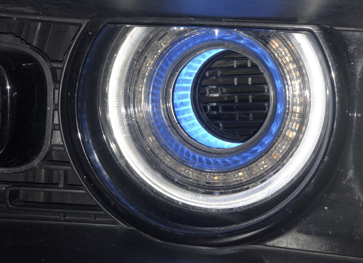 Rear Headlight Screens Mini Size - Designed To Fit All 70mm ID Illuminated Sleeve Inserts Only, Not OEM Tunnels*