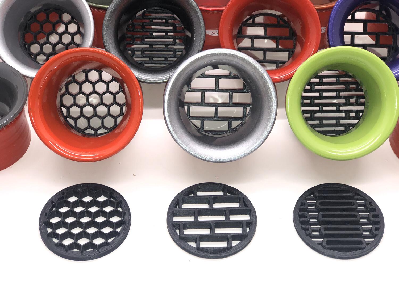 Screens for Aluminum Headlight Ring Inserts - 2 Sizes,  Standard 50mm & 55mm
