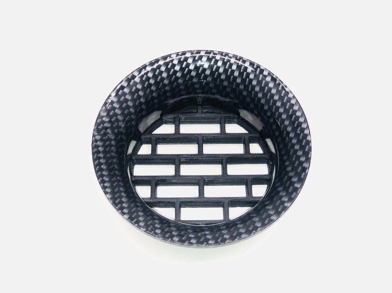 DIABLO Headlight Rings - Carbon Fiber Hydro Dipped (Black & Silver Only)