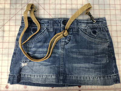 Upcycled Jean Skirt Purse W Lining