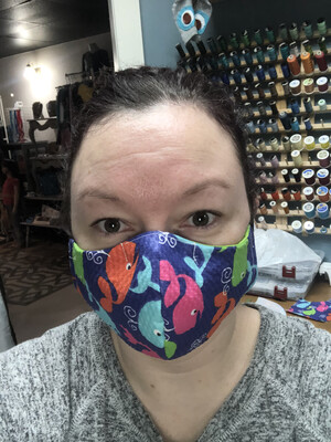 One Homemade Cotton Mask W Interfacing