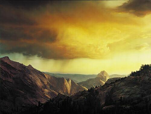 Storm Over Tenaya Canyon