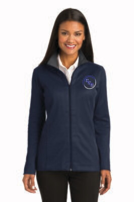 Ladies Vertical Texture Full-Zip Jacket Calvary Christian School