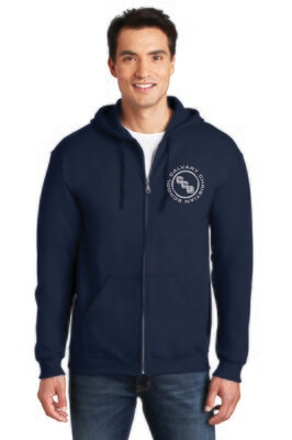 Heavy Blend Full-Zip hooded Sweatshirt Calvary Christian School