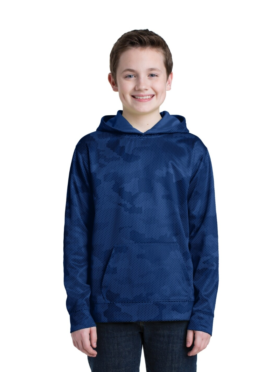 Adut and Youth Sport-Wick® CamoHex Fleece Hooded Pullover Calvary Christian School