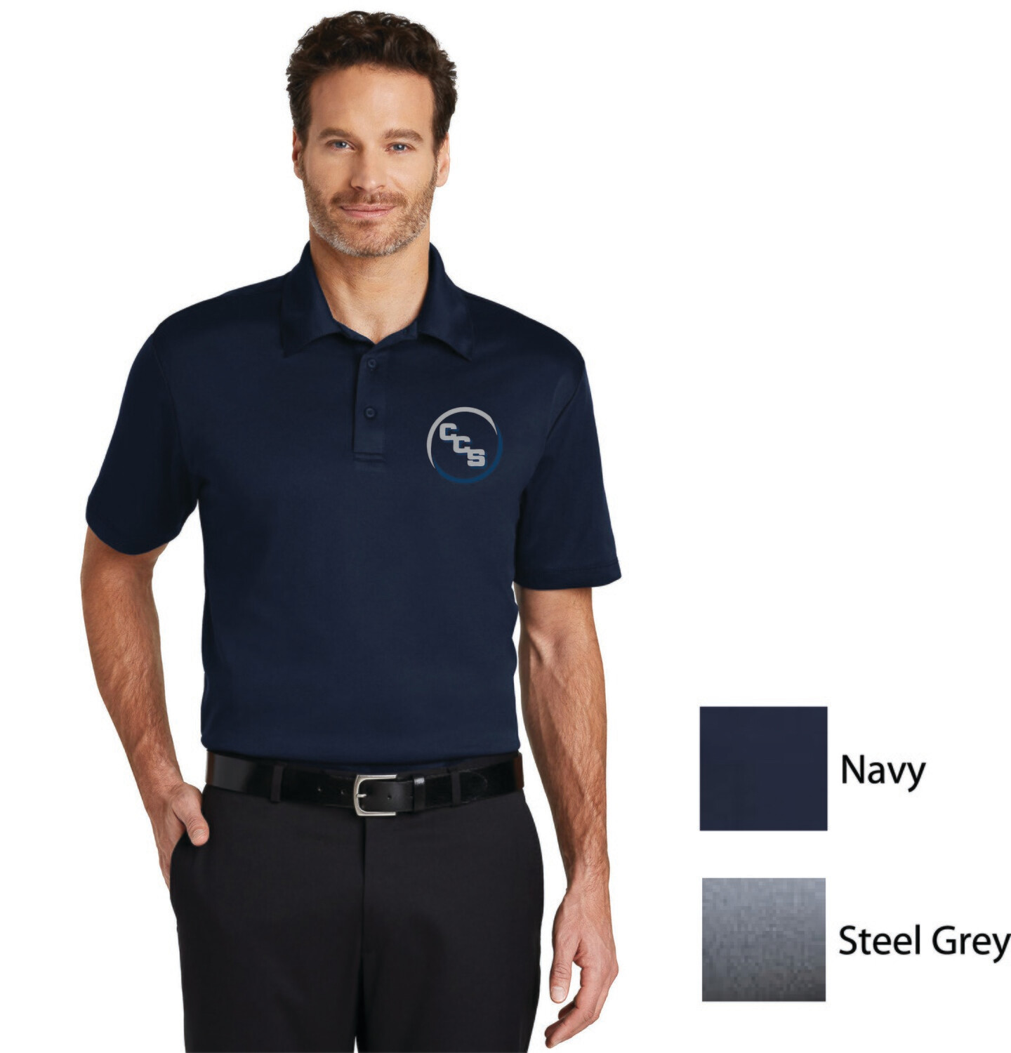 Adult, ladies and youth Silk touch performance polo Calvary Christian School