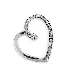 Silver Heart Pin
