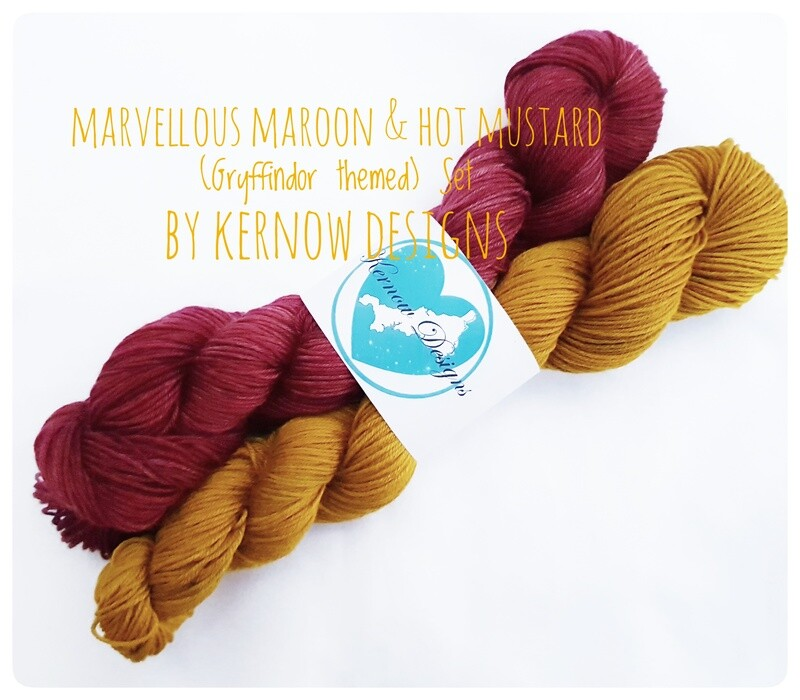 Marvellous Maroon & Hot Mustard Set