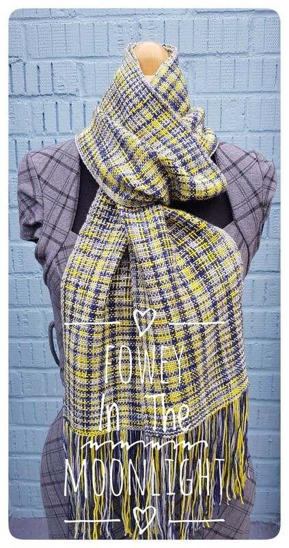 Fowey In The Moonlight  Hand Woven Scarf