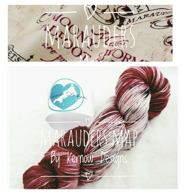 Marauders Map Handdyed Yarn